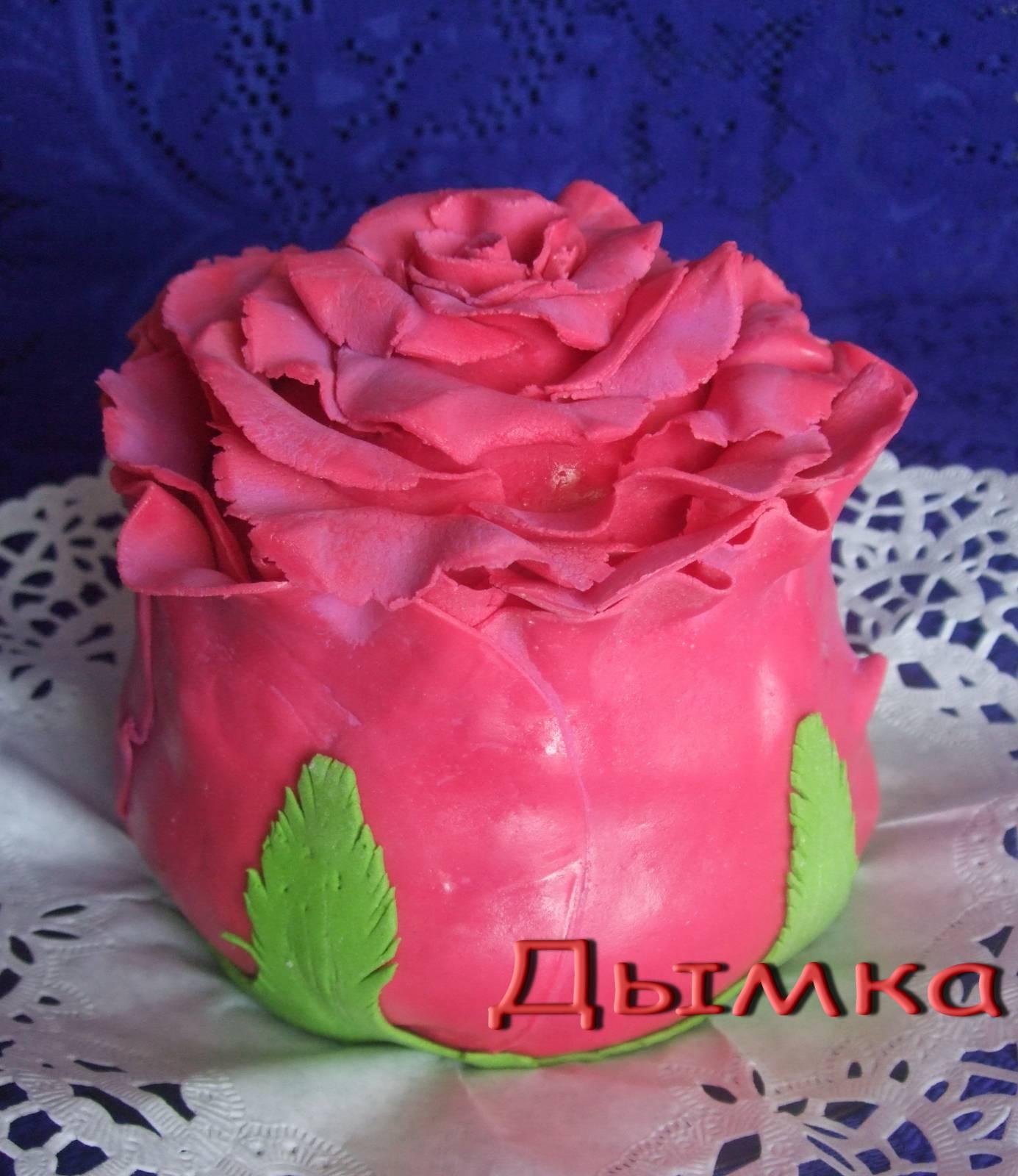 Торт с розочками пошаговое фото